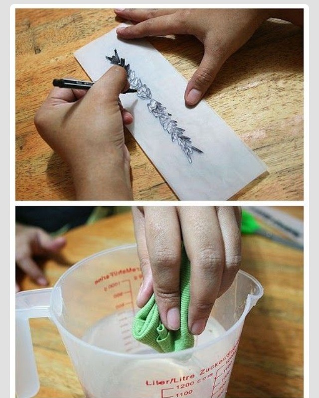 how to create a temporary tattoo