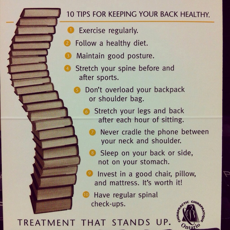 10 Tips For A Healthier Back