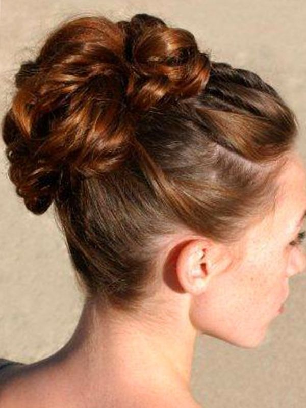 bun hair style wedding hairstyles for medium length hair trusper 8113