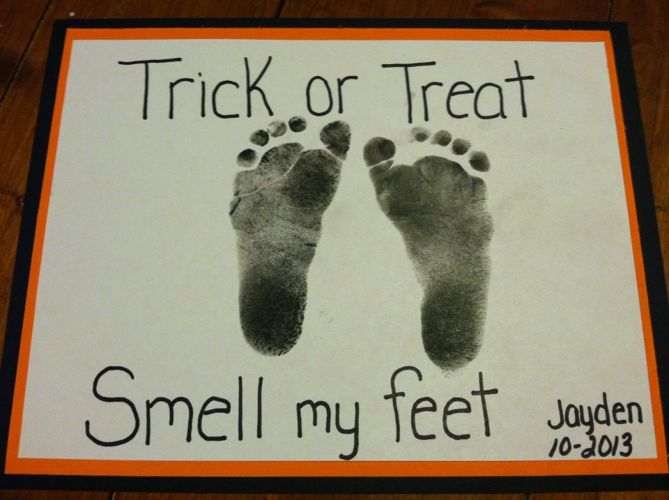 trick or treat smell my feet craft trick or treat smell my footprint trusper 8157