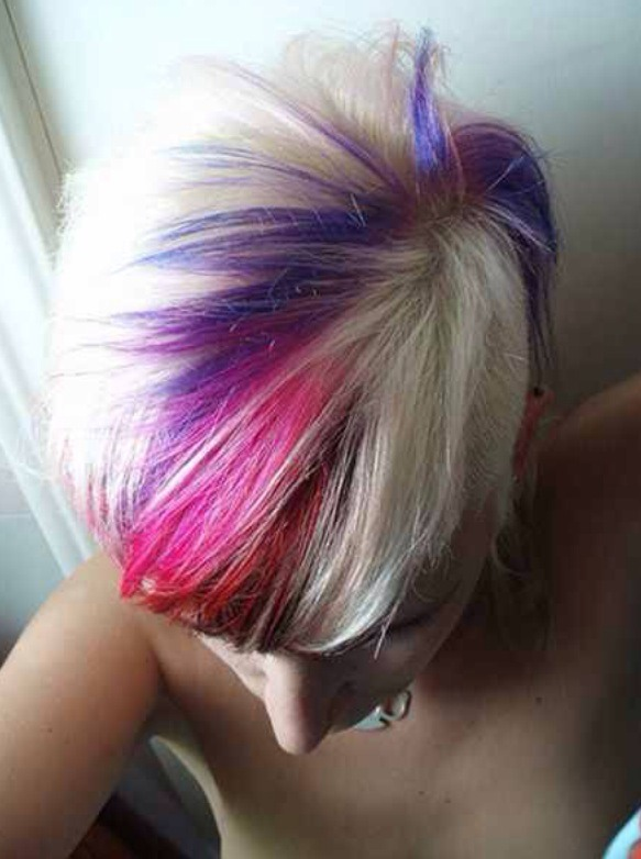 haircut with color for the of colored hair trusper 4632